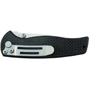 Schrade SCH403 Drop Point Blade Carbon Fiber Handle Folding Knife