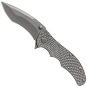 Schrade Drop Point Titanium Handle Frame Lock Folding Knife
