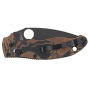Spyderco Black and Brown Burled G10 Handle 0.13 Inch Thick Folding Knife