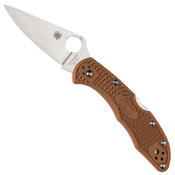 Spyderco Delica 4 Lightweight FRN Flat Ground Plain Edge Folding Knife