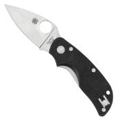 Spyderco Cat Black G-10 Plain Edge Folding Knife