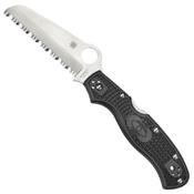 Spyderco Rescue 3 VG-10 Steel Blade Folding Knife - Black