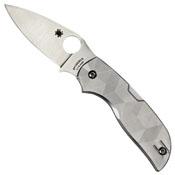 Chaparral Titanium Handle Plain Edge Folding Blade Knife