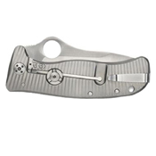 Spyderco Lionspy G-10 Titanium Plain Edge Folding Knife