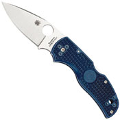 Spyderco Native 5 Plain Dark Blue Folding Knife
