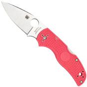 Spyderco Native 5 Plain Pink Folding Knife