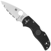 Spyderco Native 5 Lightweight Black Serrated Folding Knife
