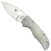 Spyderco Native5 Fluted Titanium Plain Edge Folding Knife