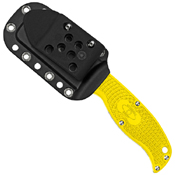 Enuff Salt Lightweight Yellow FRN Handle Fixed Blade Knife