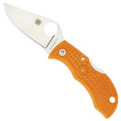 Spyderco MBORPE Manbug Key Ring Burnt Orange Folding Knife