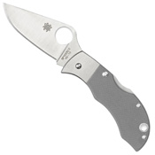 Spyderco Manbug Gray G-10 Plain Edge Folding Knife