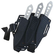 United Cutlery Lightning Bolt Thrower Triple Knife Set With Shoulder Harness