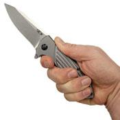 Zero Tolerance Flipper Knife - Stonewash